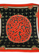 Load image into Gallery viewer, Beautiful must de Cartier Jumbo flower 100% Silk Scarf