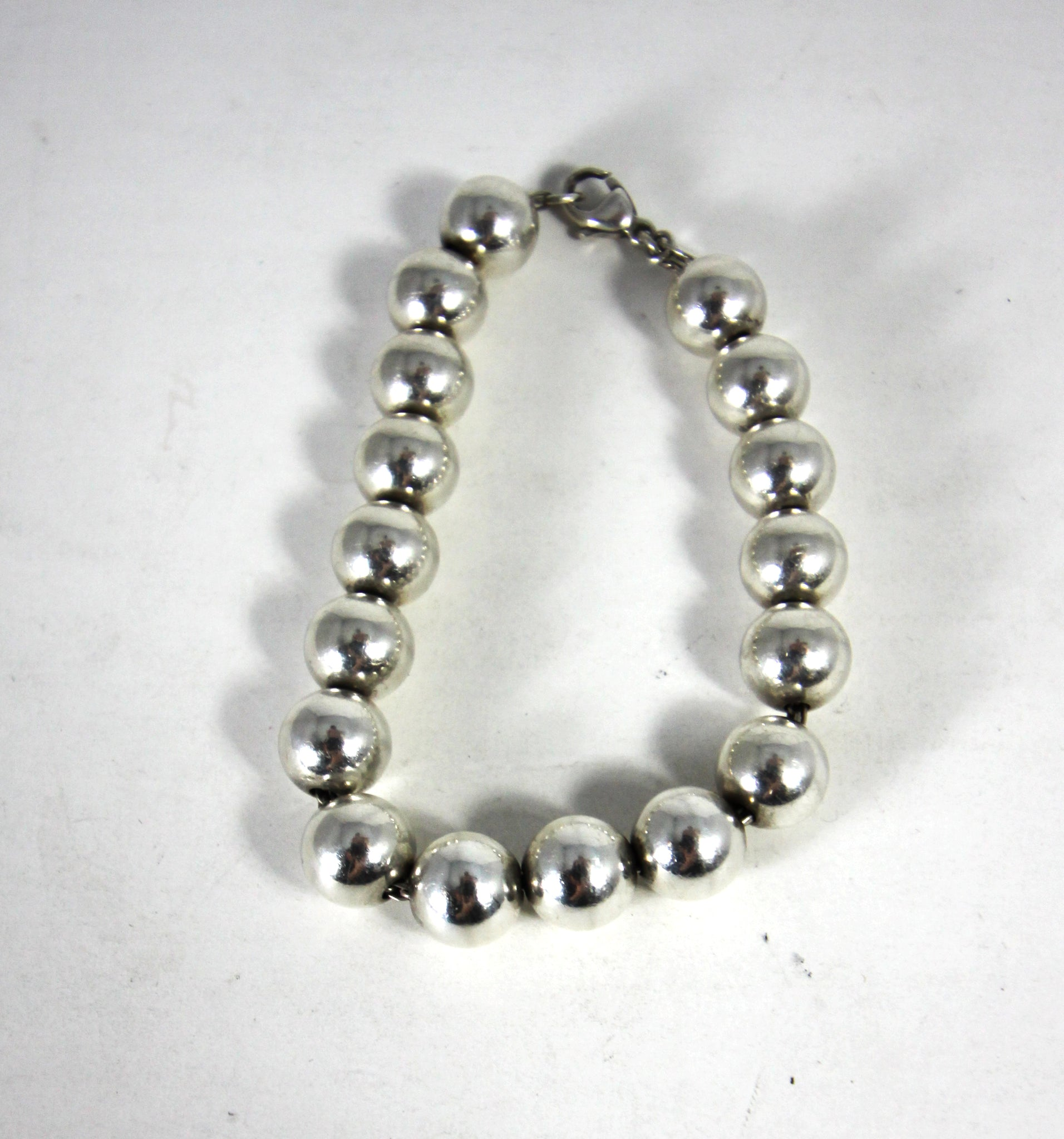 148f7750c Load image into Gallery viewer, Tiffany & Co. Sterling Silver Bead Ball  Bracelet ...