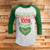 100% That Grinch 3/4 Sleeve Raglan - Grinch Movie Christmas Shirt