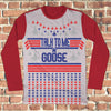 Top Gun Talk To Me Goose Ugly Christmas Long Sleeve - Top Gun Movie Christmas Shirt