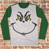 The Grinch Face Ugly Christmas Style Long Sleeve - Grinch Christmas Shirt