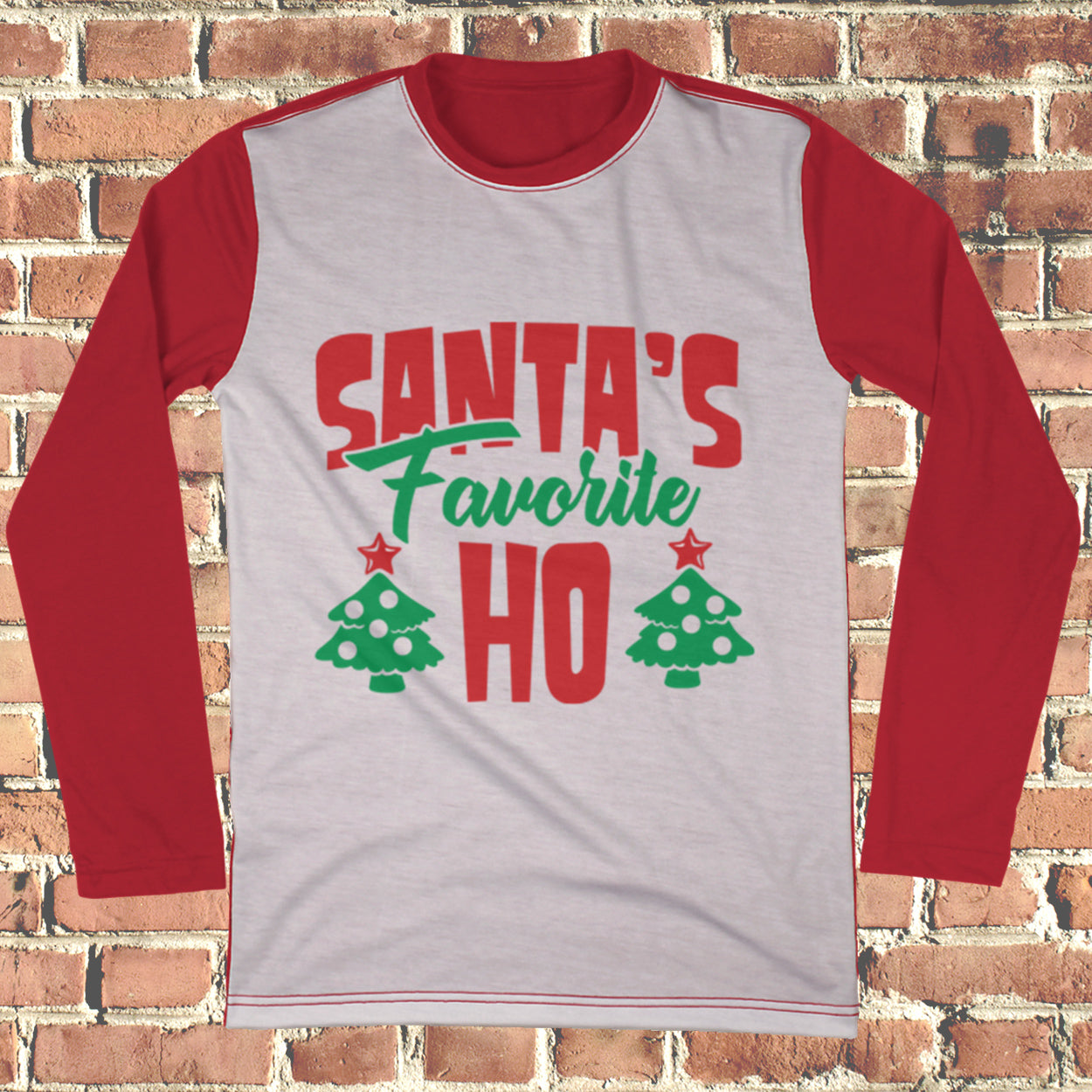 Santa's Favorite Ho Ugly Christmas Style Long Sleeve - Naughty Christmas Shirt