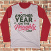 Another Year Naughty List Ugly Christmas Style Long Sleeve - Naughty Christmas Shirt