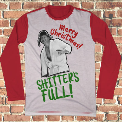 Merry Christmas, Shitter's Full Ugly Christmas Style Long Sleeve - National Lampoon Christmas Vacation shirt