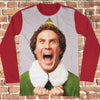 Buddy The Elf Ugly Christmas Style Long Sleeve - Elf Movie Christmas Shirt