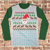 8bit Santa Mash Ugly Christmas Style Long Sleeve - Santa Claus Holiday Shirt