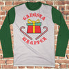 Gangsta Wrapper Ugly Christmas Style Long Sleeve - Funny Christmas Shirt