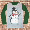 8bit Snowman Ugly Christmas Style Long Sleeve - Funny Christmas Shirt
