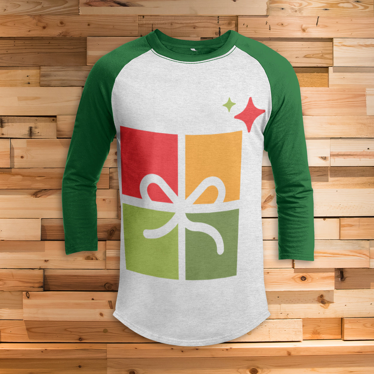 A Simple Present 3/4 Sleeve Raglan - Funny Christmas Shirt