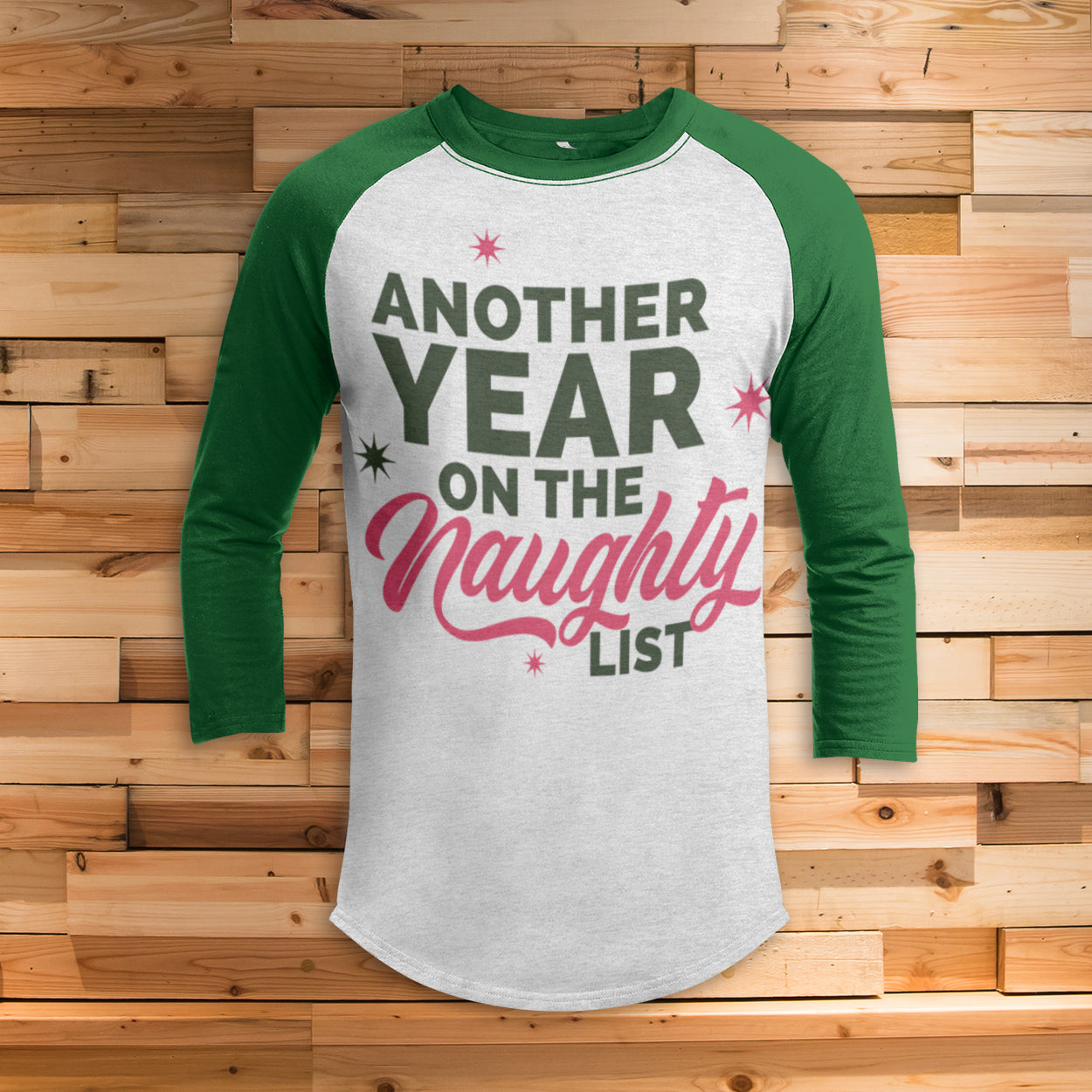 Another Year Naughty List 3/4 Sleeve Raglan