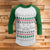 Back to the Future Ugly Christmas Sweater 3/4 Sleeve Raglan