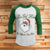 Black Santa Ho's Different Area Codes 3/4 Sleeve Raglan -  - Funny Christmas Shirt