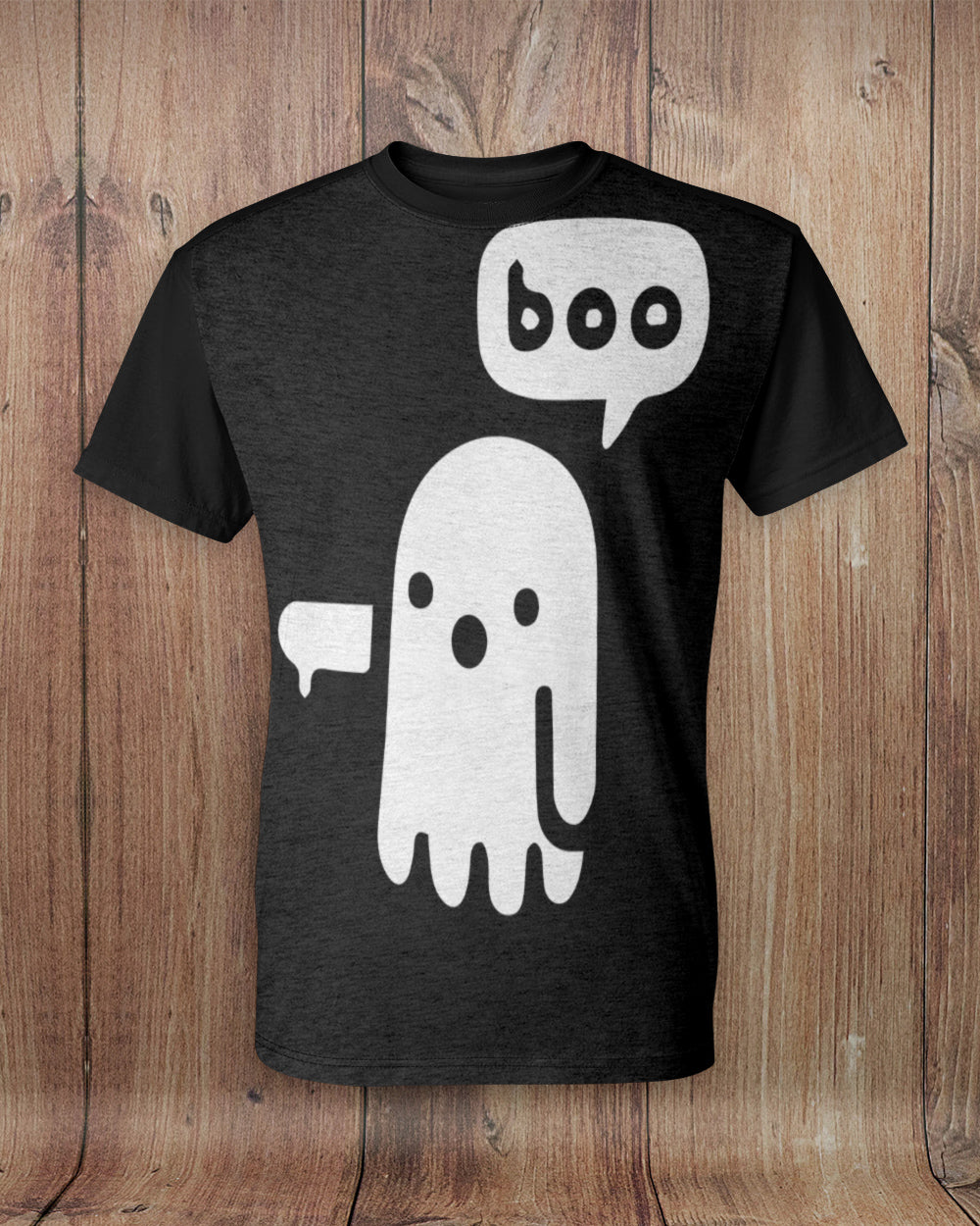 Boo Ghost Thumbs Down All Over Print T-Shirt