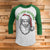 Don't Stop Believing in Santa 3/4 Sleeve Raglan - Funny Ugly Christmas Shirt