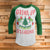 Drink Up Grinches 3/4 Sleeve Raglan - Grinch Movie Christmas Shirt