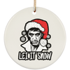 Let It Snow Ceramic Circle Ornament