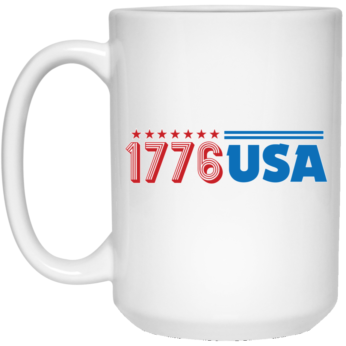 Patriotic - 1776 USA 15 oz. White Mug
