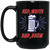 Patriotic - red white and brew 15 oz. Black Mug
