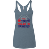 4th of July_Let's Get Star Spangled Hammered Next Level Ladies' Triblend Racerback Tank