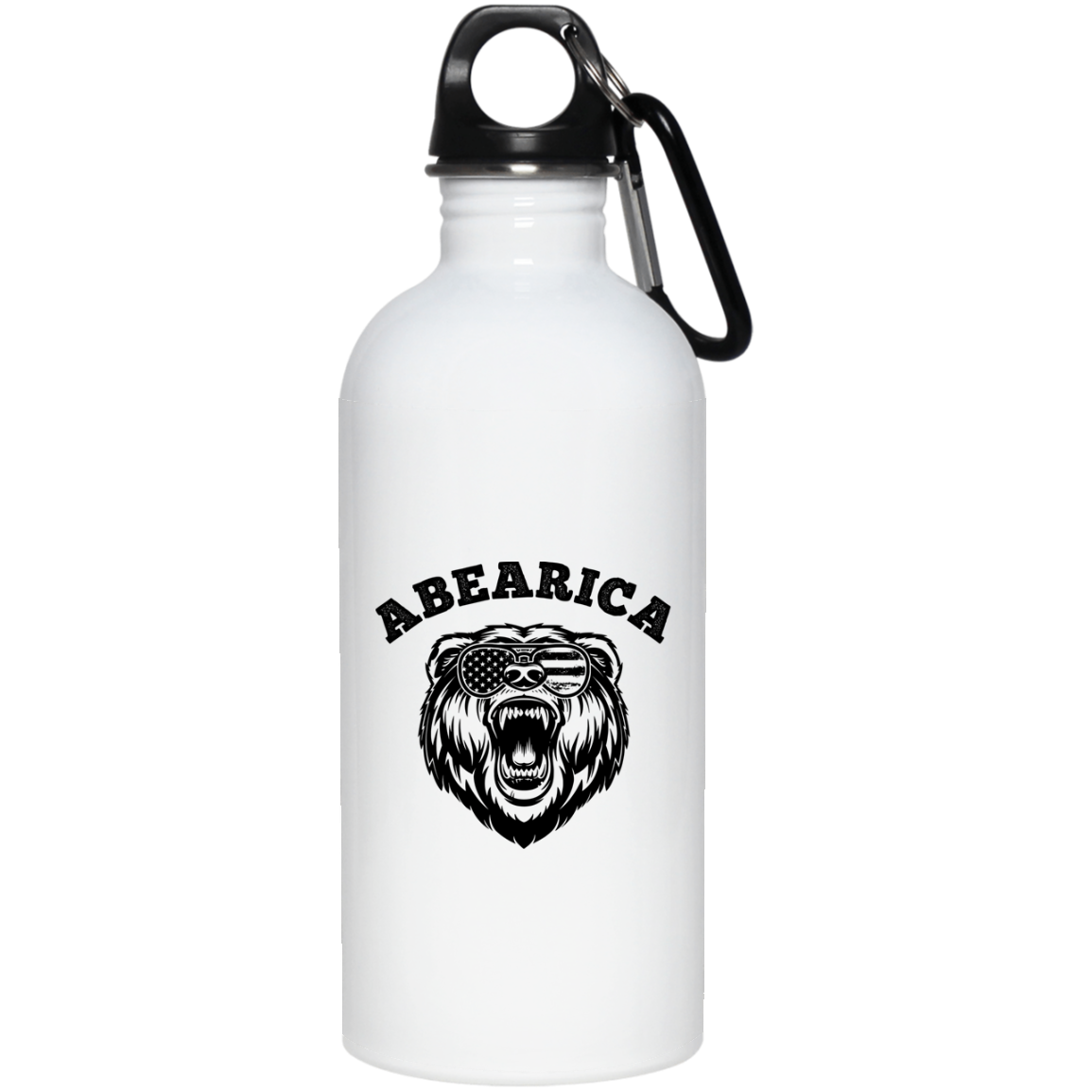 Patriotic - Abearica 20 oz. Stainless Steel Water Bottle