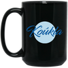 Greek Pride - Beautiful Koukla 15 oz. Black Mug
