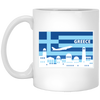 Greek Pride - Greece Poster Style 11 oz. White Mug