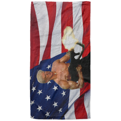 Politics - Trump as Rambo Beach Towel - 37x74