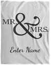 Wedding - Mr. & Mrs. Big And Symbol - Custom Cozy Plush Fleece Blanket - 60x80