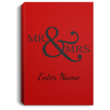 Wedding - Mr. & Mrs. Big And Symbol - Custom Portrait Canvas .75in Frame