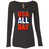 4th of July_USA all day NL6731 Next Level Ladies' Triblend LS Scoop
