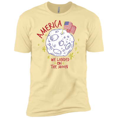 Patriotic - landing on the moon Next Level Premium Short Sleeve T-Shirt