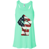 Patriotic - Flag Fist Bella + Canvas Flowy Racerback Tank