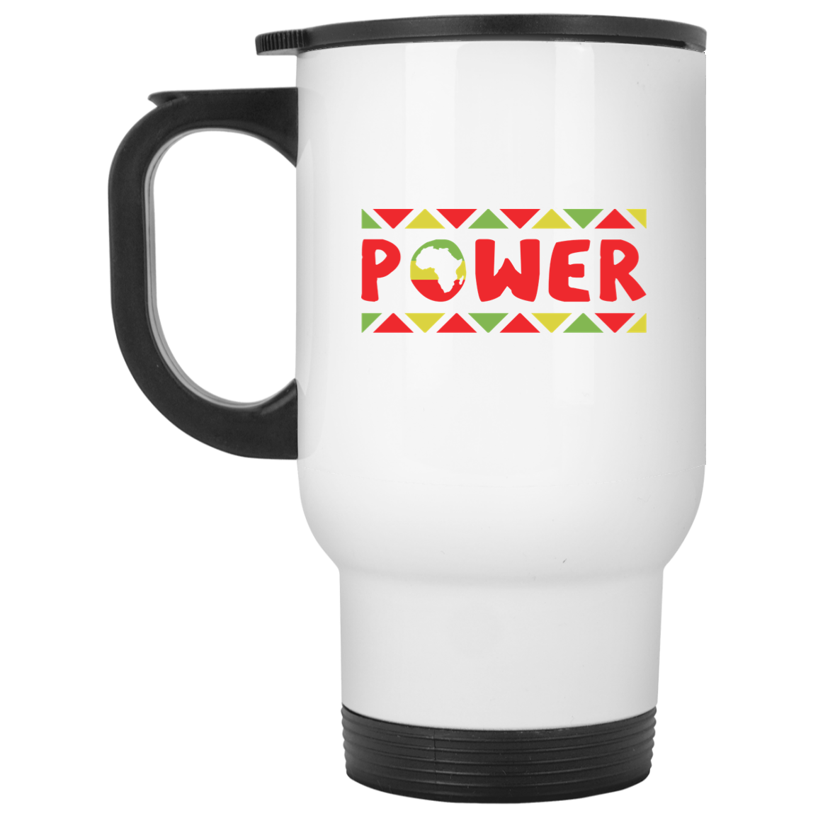 African Pride - African Power White Travel Mug