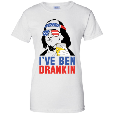 4th of July_I've been dranklin Gildan Ladies' 100% Cotton T-Shirt