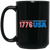 Patriotic - 1776 USA 15 oz. Black Mug