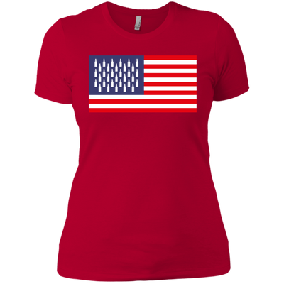 4th of July_USA Beer Flag Next Level Ladies' Boyfriend T-Shirt