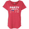4th of July_Party like its 1776 Next Level Ladies' Triblend Dolman Sleeve