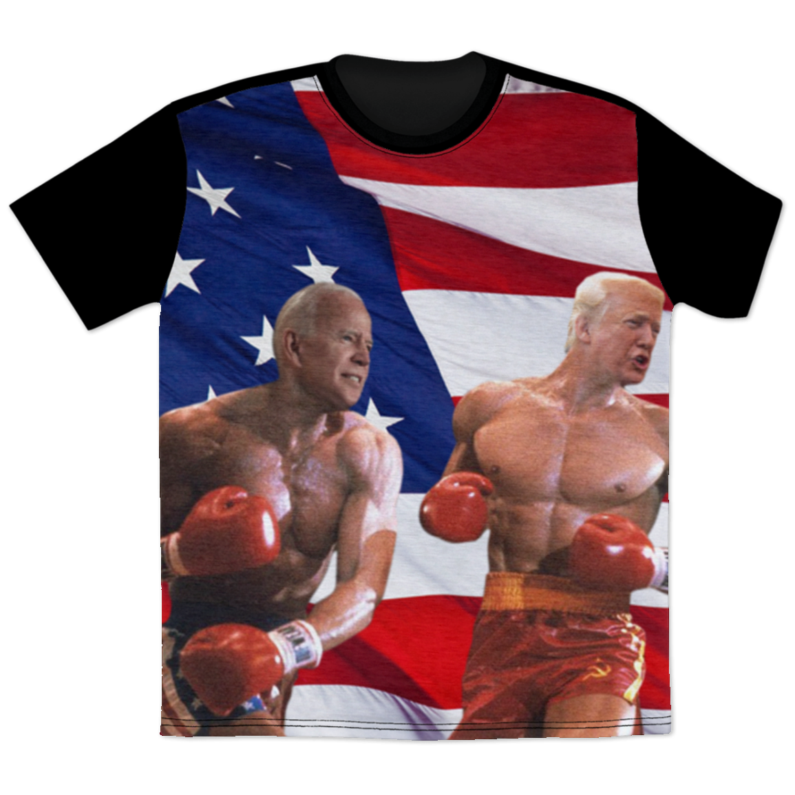 Politics - Biden punching Trump All Over Print T-Shirt