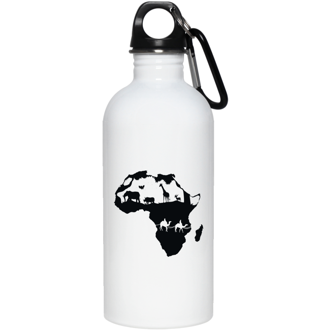 African Pride - African Continent 20 oz. Stainless Steel Water Bottle
