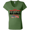 4th of July_Let's Political Party like it's 1776 Bella + Canvas Ladies' Jersey V-Neck T-Shirt