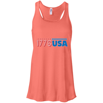 Patriotic - 1776 USA Bella + Canvas Flowy Racerback Tank