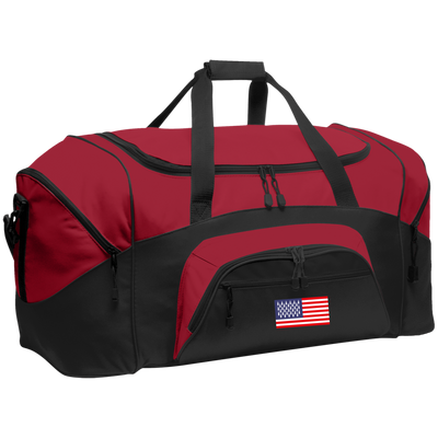 4th of July_USA Beer Flag BG99 Port & Co. Colorblock Sport Duffel
