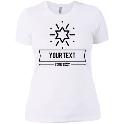 Personalized Custom Layout - Star Next Level Ladies' Boyfriend T-Shirt