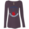 4th of July_Teddy Swolesevelt NL6731 Next Level Ladies' Triblend LS Scoop
