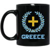 Greek Pride - Greece Logo 11 oz. Black Mug