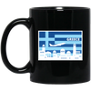 Greek Pride - Greece Poster Style 11 oz. Black Mug