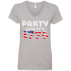 4th of July_Party like its 1776 Anvil Ladies' V-Neck T-Shirt