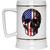 Patriotic - Skull Flag Beer Stein 22oz.