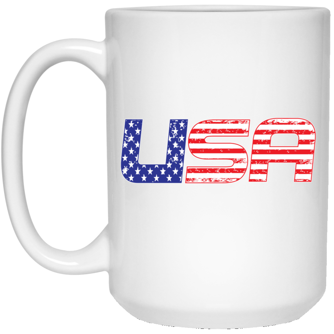 Patriotic - USA flag 15 oz. White Mug