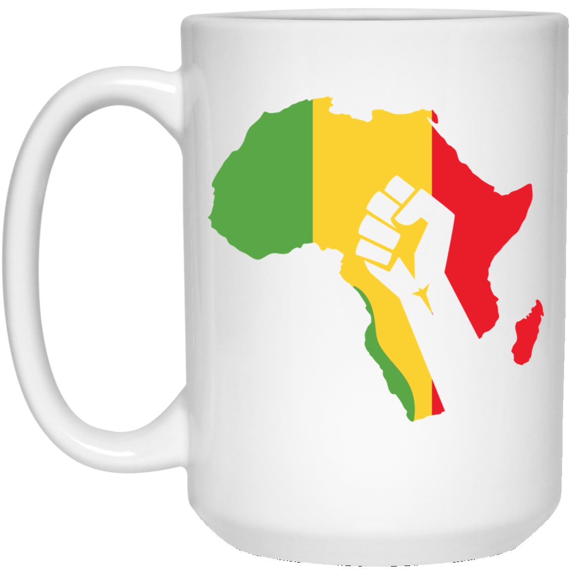 African Pride - Power Fist 15 oz. White Mug